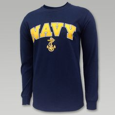 Navy Arch Anchor Long Sleeve T
