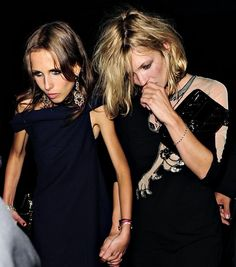 You're partied out, again!  Kate Moss and Allegra Versace