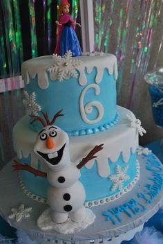 Frozen 6th Birthday Cake