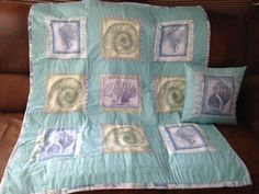 Recycled curtains into quilt