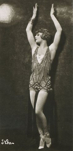 Art Deco ~ Barbette aka Vander Clyde, 1926, American Female Impersonator, High Wire Performer, Trapeze Artist ~ Photo by Atelier d` Ora