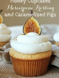 Cupcakes   Sweet Mascarpone Frosting   Carmelized Figs!?!? Umm. Yep. Count me in. These are not only photographed beautiful (go Natalie) but they also look so absurdly delicious, I'm literally holding my hands down so that I don't rush into the kitch and make them right now! From Natalie...One of my favorite things about fall…