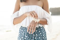 Off the shoulder cropped frill top. A must-have summer item. Perfect for the beach or by the pool OR dress it up for a night out.  - f e a t u r e s