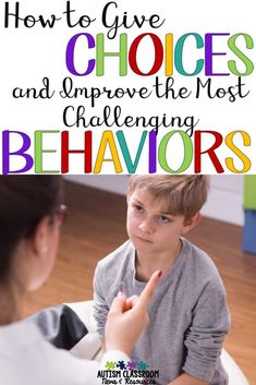 So I realized, for this kid, it's all about choices. This kid could suck you into a power struggle faster than my money disappears at the Target Dollar Spot! Preschool Behavior Management, Classroom Behavior Management, Class Management, Classroom Discipline, Kids Discipline, Autism Classroom, Preschool Classroom, Preschool Teacher Tips, Autism Preschool
