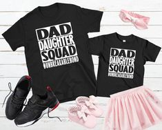 Personalized Daddy Daughter Matching Shirt Dad Daughter Squad Shirt Father Daughter Shirt Dad And Baby Set Father's Day Gift New Dad Gift Father Daughter Shirts, Dad Daughter, Sister Shirts, Gifts For New Dads, Fathers Day Gifts, Graduation Shirts For Family, Trump Shirts, Matching Shirts, Black Bodysuit