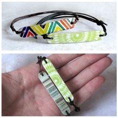 Popsicle stick bracelets.