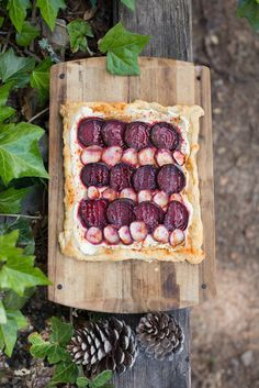 A farmers market feast: Roasted Beet and Turnip Galette! I layered the rosy rounds over ricotta on puff pastry, and sprinkled with sea salt and smoky paprika, yum! Find the recipe HERE on my guest post for The Kitchn.