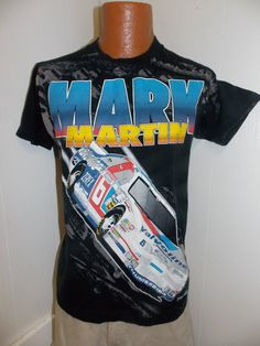 cc8a07c8d Vintage 1990 s Mark Martin Mens T Shirt Size Medium