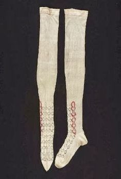 In the Swan's Shadow: Embroidered Silk Stockings, ca. 1860.