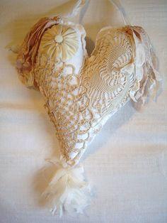 gorgeous lace heart