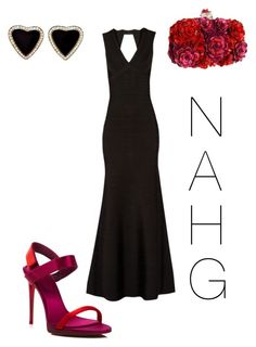 """NAHG"" by nicole-hill-gutierrez on Polyvore featuring moda, Burberry, Alexander McQueen y Hervé Léger"