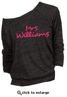 Custom Mrs. Slouchy Pullover for the day after the wedding. Honeymoon airport travel outfit! Want!!