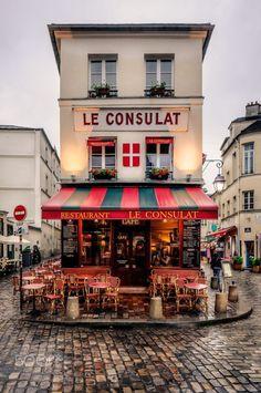 Le Consulat Café: a historic coffee house in the heart of Montmartre, Paris, France Restaurants In Paris, Restaurant Paris, Restaurant Guide, Corner Restaurant, Paris Bakery, Montmartre Paris, Paris Paris, Streets Of Paris, Paris Street Cafe