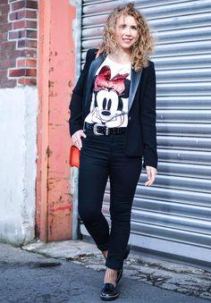 Kationette, Fashionblog, fashion, Outfit, ootd, lotd, Lookbook, Streetstyle, Minnie, Rebecca Minkoff, High Waist, Denim, Disney, Fishnet, tights, stockings, Netzstrümpfe