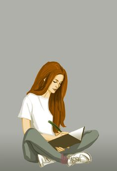 Lily Evans by Hilly Minne Art Lily Evans von Hilly Minne Art Gina Weasley, Lily Potter, Lily Evans Potter, Desenhos Harry Potter, Harry And Ginny, Harry Potter Drawings, Bd Comics, Woman Reading, Fan Art