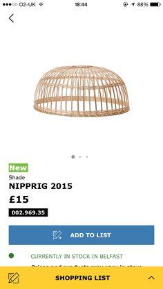 Nipprig £15 lampshade