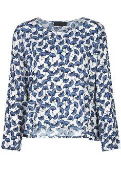 Bluse blå print 22149 Storm og Marie Holly Blouse - blue print