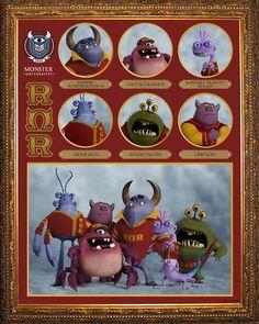 ROH OMEGA ROH (RΩR) In der Roh Omega Roh-Studentenvereinigung findet man die cleversten Monster der ganzen Uni, die alle aus altehrwürdigen Erschrecker-Familien stammen. Die RΩRs legen Wert auf ein elegantes Äußeres und sind skrupellos beim Erschrecken. Sie wollen unbedingt ihren Meistertitel bei den Schreckspielen verteidigen – mit welchen Mitteln auch immer… #DieMonsterUni ©Disney•Pixar