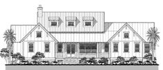 Large Open Floor Plans with Wrap Around Porches - Rest Home Plan Collection — Coastal Cottage House Plans — Flatfish Island Designs — Coastal Home Plans Cottage House Plans, Small House Plans, Cottage Homes, Coastal Cottage, Coastal Homes, Cottage Farmhouse, Lake Cottage, Farmhouse Floor Plans, Modern Farmhouse