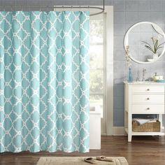 Echelon Home Quatrefoil Shower Curtain - Overstock Shopping - Great Deals on Shower Curtains