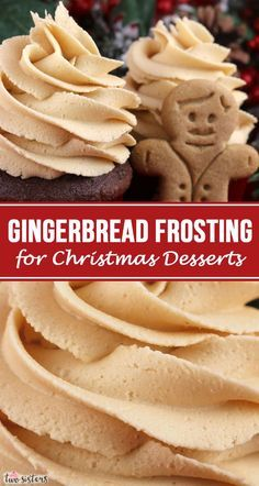 This really is the Best Gingerbread Frosting for Christmas Desserts. Creamy and sweet and delicious, you'll never need another Gingerbread Christmas Frosting recipe! It is so easy to make and boy will it be delicious on your Christmas Treats! Frosting Recipes, Buttercream Frosting, Dessert Recipes, Snacks Recipes, Caramel Buttercream, Homemade Frosting, Dessert Food, Pumpkin Dessert, Cupcake Recipes