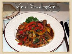 Veal Scallopine with peppers, mushrooms, and onion: served with Salad and Pasta Marinara or Vegetable or Potato  #BravoFrancoRistorante #BravoFranco #ItalianCuisine #Italian #Food #Dinner #Restaurant #Pittsburgh #PA #Menu #FineDining