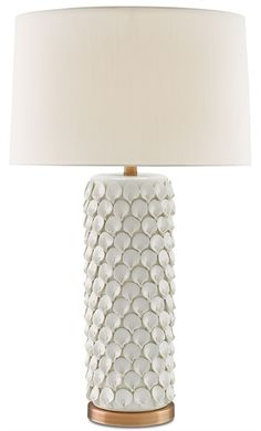 The Currey and Company Calla Lily Table Lamp is  as pretty as a picture! Intricate hand-formed ceramic flower petals create a feminine lamp chic enough to handle any style room from vintage to modern. The fantastic texture of the crafted flower base contrasts with the soft silk shade in eggshell and the Antique Brushed Brass hardware gives it a warm finishing touch.  $730.00
