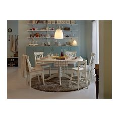 LIATORP Extendable table IKEA Extendable dining table with 1 extra leaf seats 4-6; makes it possible to adjust the table size according to need.