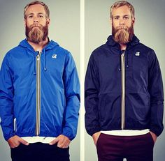 Royal Blue and Navy are two most popular colors for the Klassic. Which one do you prefer? #kway #klassic #waterproof #jackets #menswear #beardgang