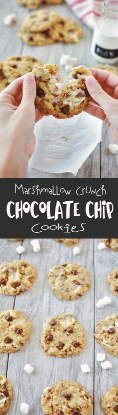 I took these to a cookie exchange and everyone went crazy over them. Best Cookies EVER!!! Marshmallow Crunch Chocolate CHip COokies by Flirting with Flavor