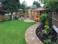 43 Affordable Summer Garden Design Landscaping Look Chic - Modern Corner Landscaping, Backyard Landscaping, Landscaping Ideas, Back Gardens, Small Gardens, Modern Gardens, New Build Garden Ideas, Court Yard Garden Ideas, Layout Design