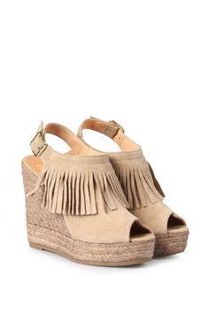 kanna Slingback-Wedges Berti mit Fransen  bei myClassico - Premium Fashion Online Shop