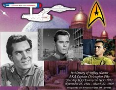 Jeffrey Hunter the original Captain on Star Trek