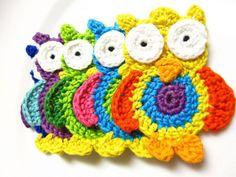 Crochet Owl Applique Pattern, PDF Instant Download