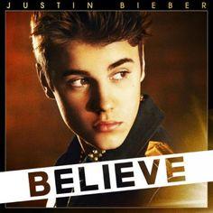 Justin Bieber - Believe. Het is een mooie cover die mensen aanspreekt door de warme kleuren die gebruikt zijn.