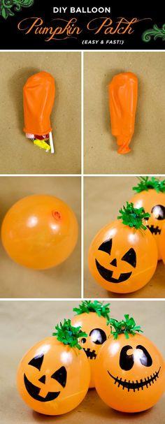 DIY Balloon Pumpkin Patch.