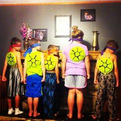 Teenage Mutant Ninja Turtle Birthday party ideas :) Turtle shells made from plastic plates