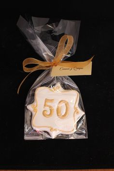 50th Anniversary Cookies, Anniversary Favors, Golden Anniversary Cookie, Wedding Cake Cookies, www.SweetSceneBakery.com
