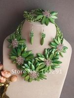 Free ship!!!Lilac beauty african wedding coral jewelry set necklace bracelet and earring set