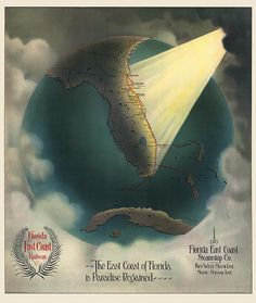 Antique railroad map of Florida from 1898