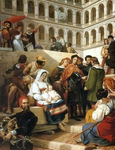 FRENCH PAINTERS: Horace VERNET Raphael at the Vatican 1832