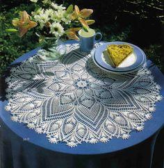 Crochet Knitting Handicraft: Centerpiece