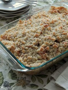 Grandpa's Apple Crisp is a simple, delicious Fall dessert you don't want to…