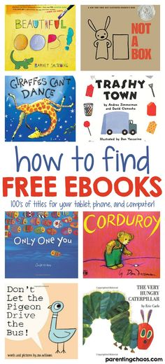 Finding FREE eBooks for Kids - AMAZINGLY HUGE RESOURCE! Many wonderful free eBooks for kids are available to read Online. Stories span age ranges from preschool, young children, teens, and cover many topics! Audio Books For Kids, Free Kids Books, Childrens Books, English Books For Kids, Free Kids Stories, Online Books For Kids, Kids Story Books, Books Online, Learning Activities