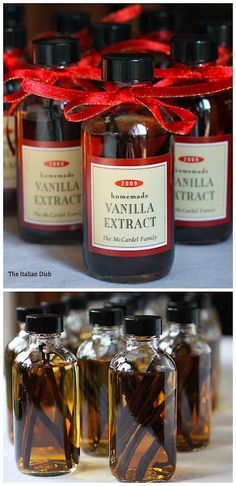 truebluemeandyou:  What makes this DIY Vanilla Extract Tutorial different? The Italian Dish site tells you with wonderful photos what to do and what kind of vanilla beans to buy. Create the label on your computer. This is a project I have done in the past and will do again. *You have to steep the beans for several months in vodka so you must start this project well before the holidays.