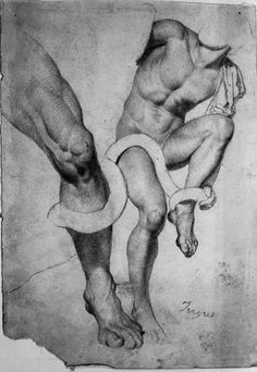 monsieurlabette: Study of the Laocoon by Ingres