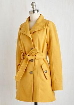 Jack by BB Dakota Field Commentator Coat in Goldenrod   Mod Retro Vintage Coats   ModCloth.com