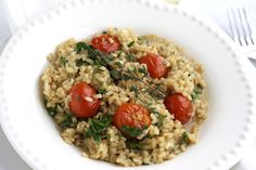risotto, sounds delicious...try in a few years, I'm sure to burn the rice in this season of life