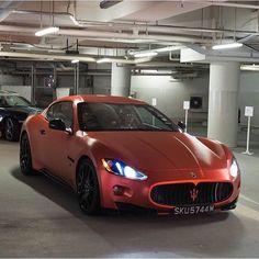 Matte red Maserati! Photographer: @leroytee_photography | @M85Media | @StancedAutohaus | @TheAutoGroup | #Maserati #AmazingCars247