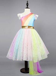 Sequins Unicorn Dress 2019 Fashion Girl Kids Party Wear Dresses For Girls Princess Dress Children's Clothing Kid Robes Tutu, Robes D'occasion, Girls Dresses Online, Party Dresses Online, Kids Party Wear Dresses, Fall Dresses, Gown Dress Online, Sweet Party, Cheap Girls Clothes
